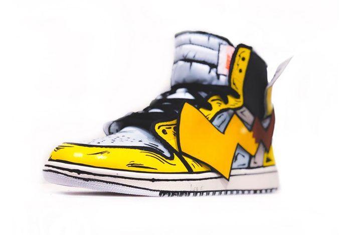 Detective Pikachu Off White Air Jordan 1 Toe