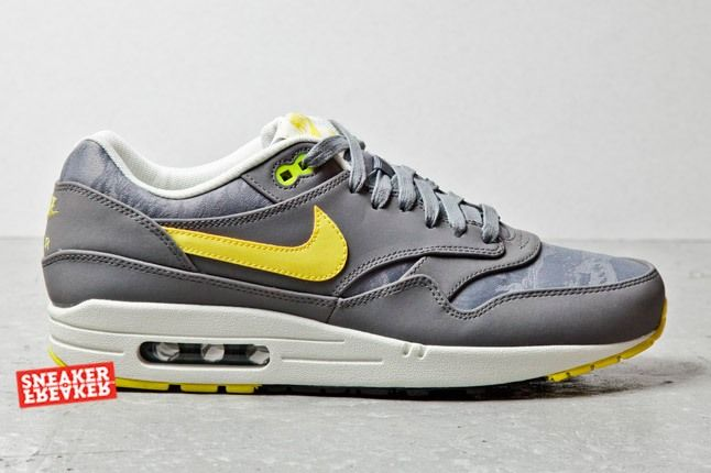 Nike Air Max 1 Prm Cool Grey Sonic Yellow Jaquard 1