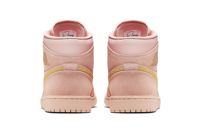 Air Jordan 1 Mid Coral Gold 852542 600 Release Date Heel