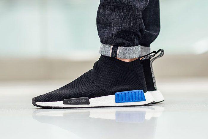 Adidas City Sock Black Blue 1