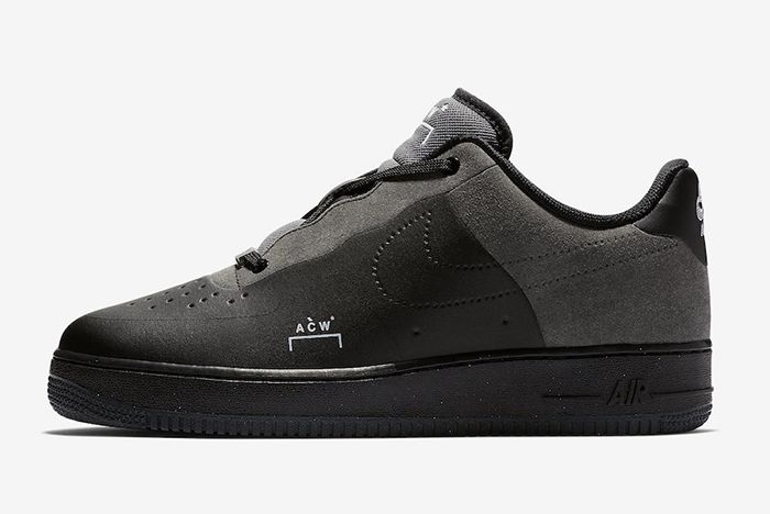 A Cold Wall Nike Air Force 1 Low Black 2