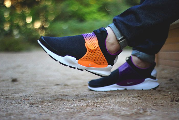 Nike Id Sock Dart Gradient Neon Fade Strap 1