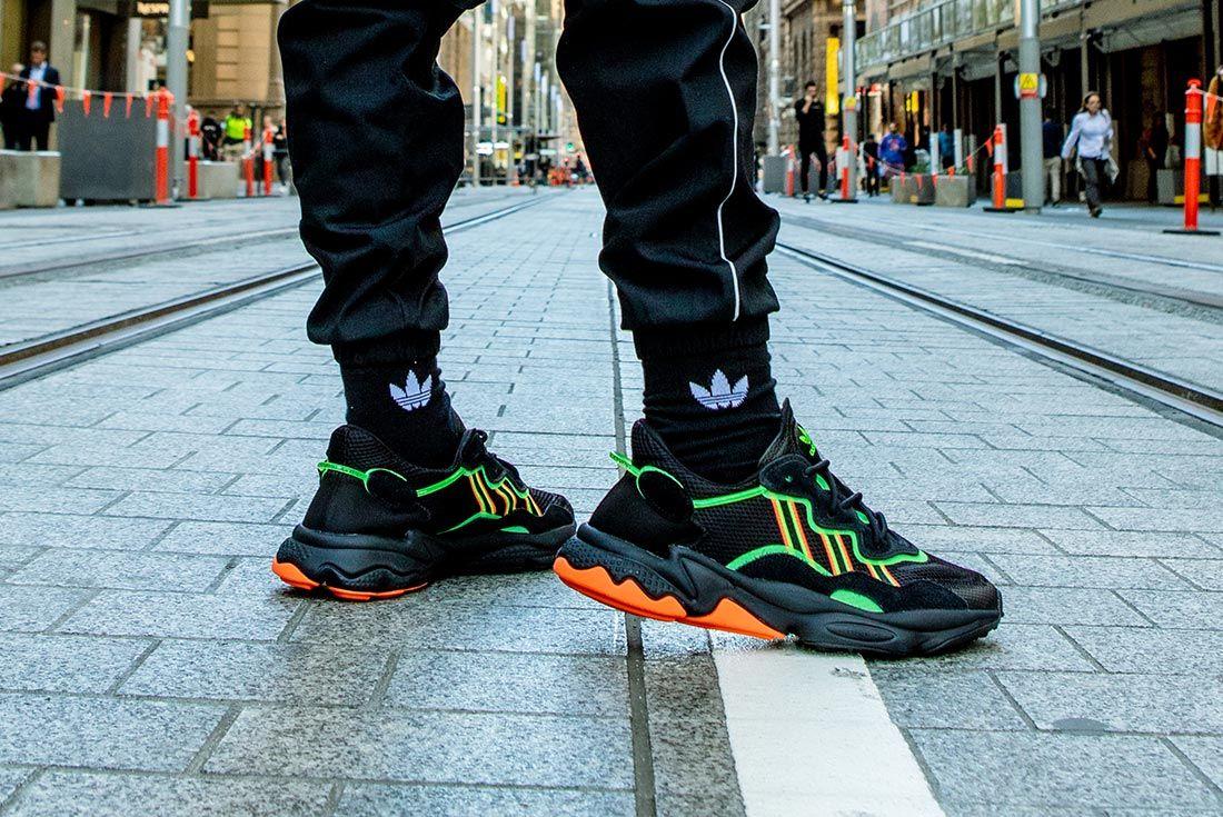Jemuel Wong Adidas Ozweego Black Right Side Tracks