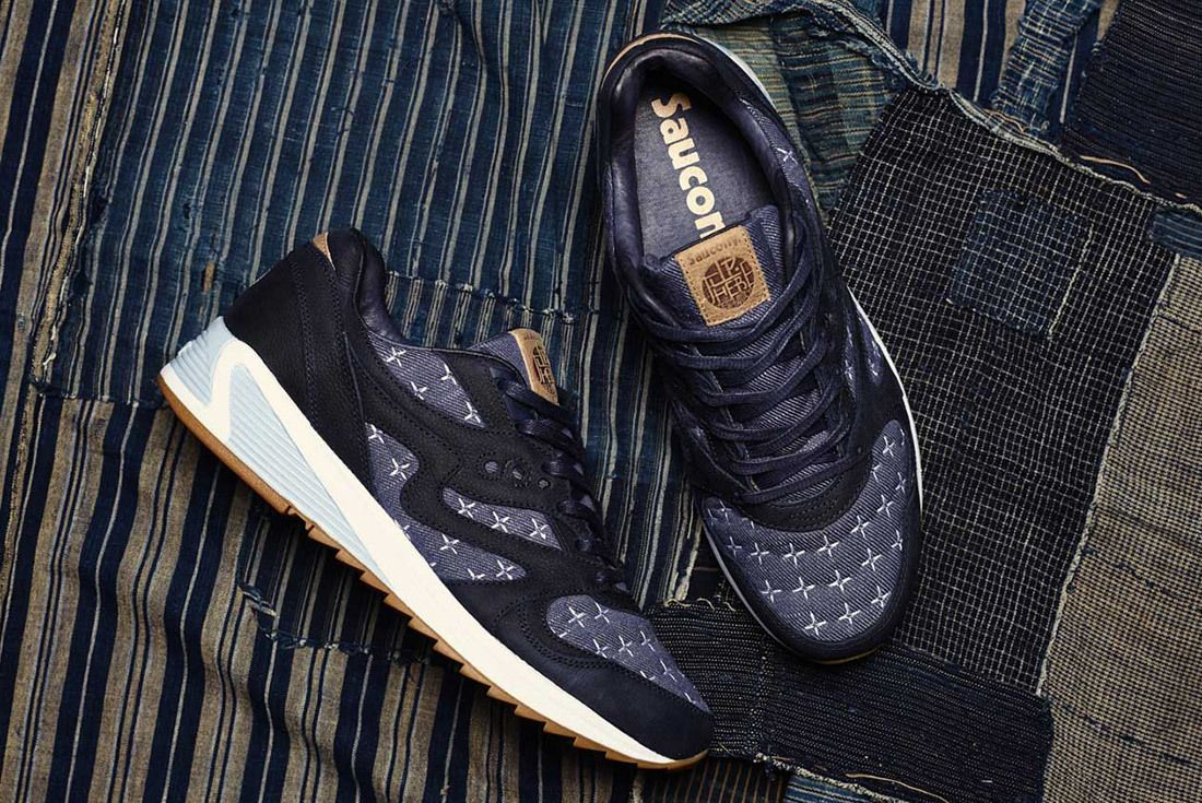 Up There Store Saucony Grid 8000 Sashiko Sneaker Freaker 8