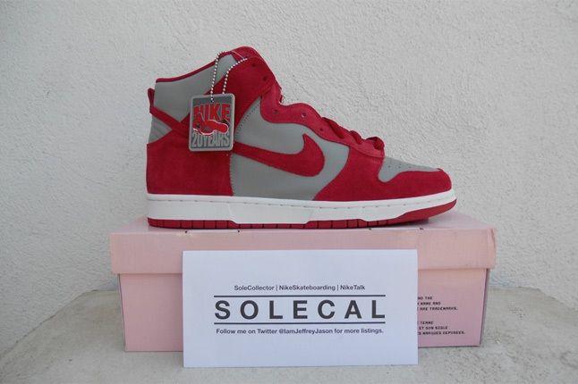 Nike Dunk Sb Grey Red 1