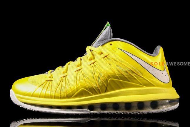 Nike Lebron X Low Sonic Yellow Profile 1