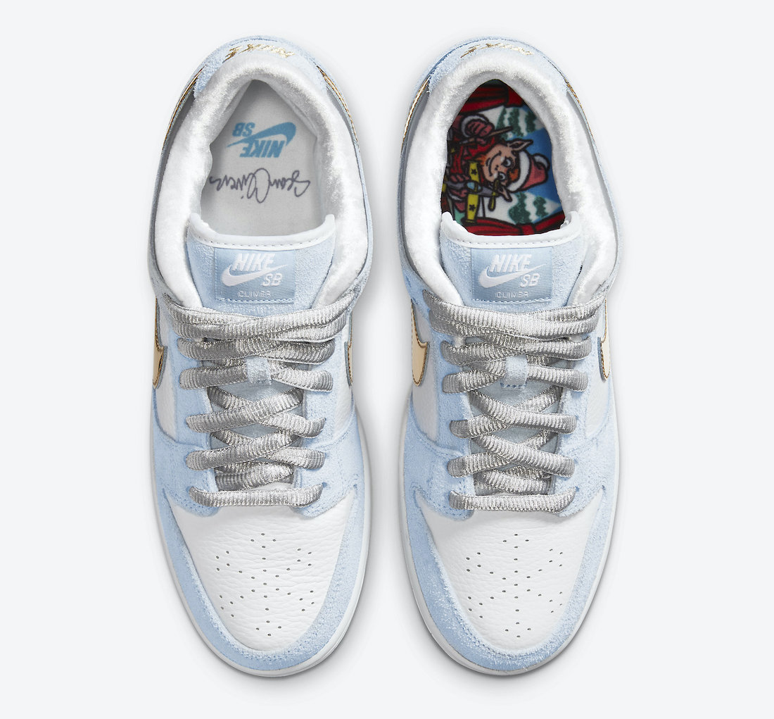 Sean Cliver Nike SB Dunk Low Holiday Special DC9936-100