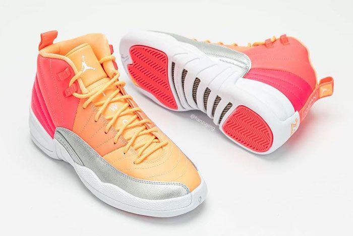 Air Jordan 12 Gs Hot Punch 510815 601 Release Date Pricing 6 Pair