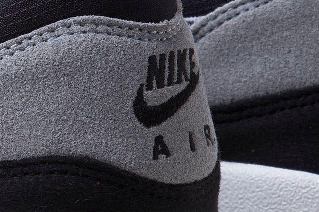 Nike Air Max 1 Grey Violet Nike Logo Heel 1
