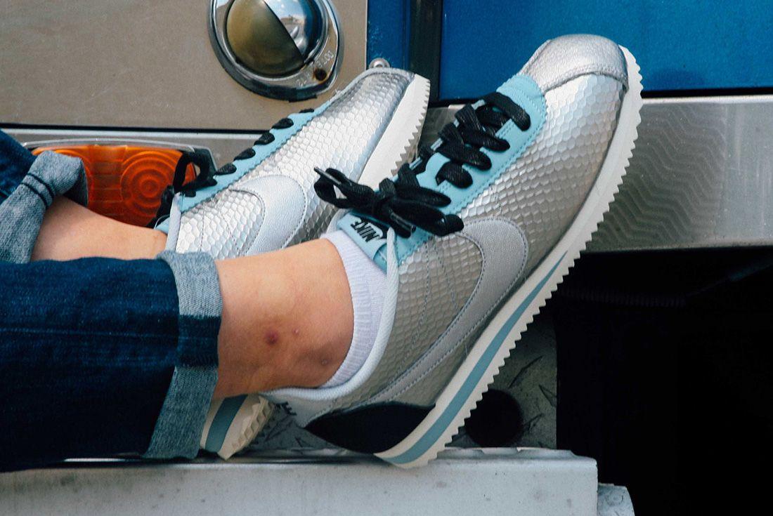 Nike Cortez Womens Metallic Silver 2