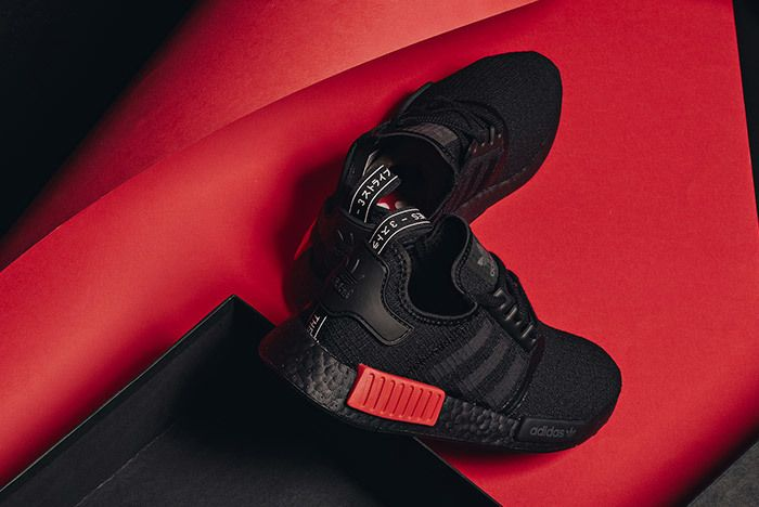 Adidas Nmd R1 Core Black Lust Red 8