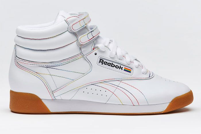 Reebok Pride Pack White Freestyle Hi Right Side View