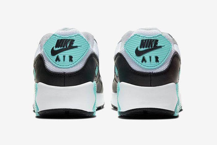 Nike Air Max 90 Hyper Turquoise Cd0881 100 Heel Shot