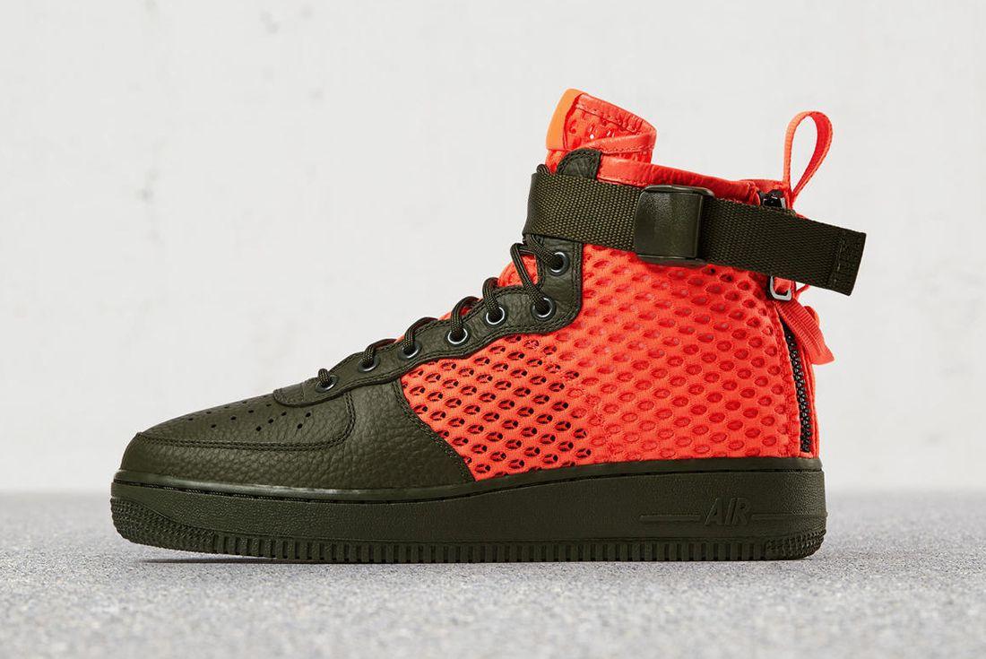 Nike Sf Air Force 1 Total Crimson 5