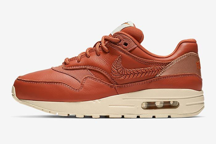 Nike Air Max 1 Premium Brown Embroidered Lateral