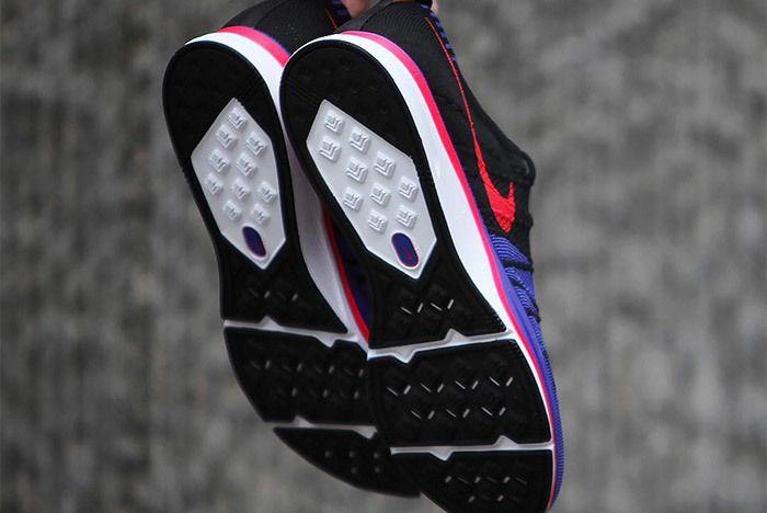 Nike Flyknit Trainer Red Purple Black 2