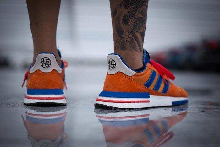 adidas goku on feet