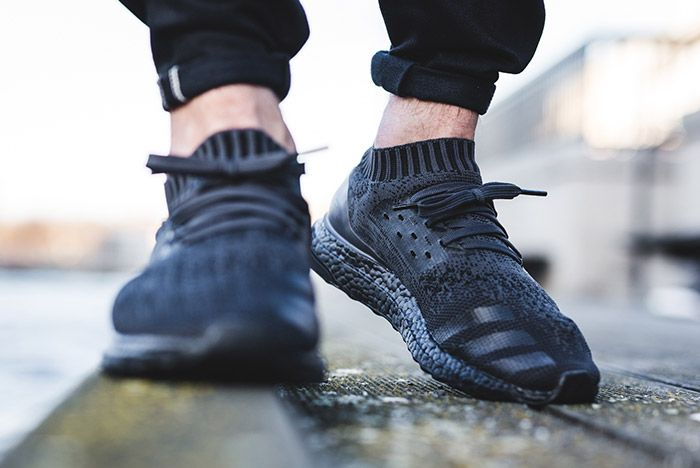 Adidas Ultra Boost Uncaged Pitch Triple Black On Foot 2