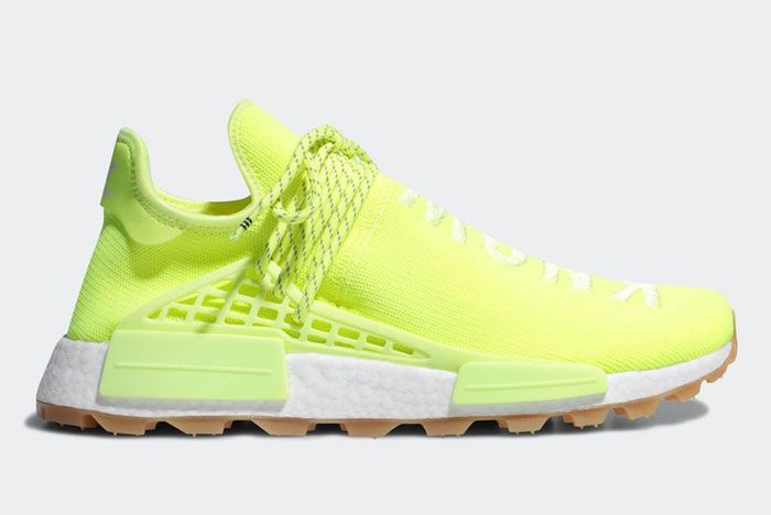 Pharell Adidas Hu Nmd Solar Yellow Lateral Side