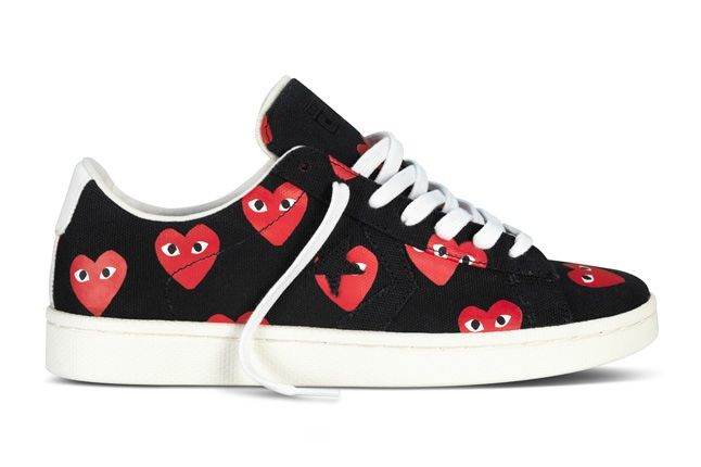 Converse Comme Des Garcons Play Collection Black Red Profile 1