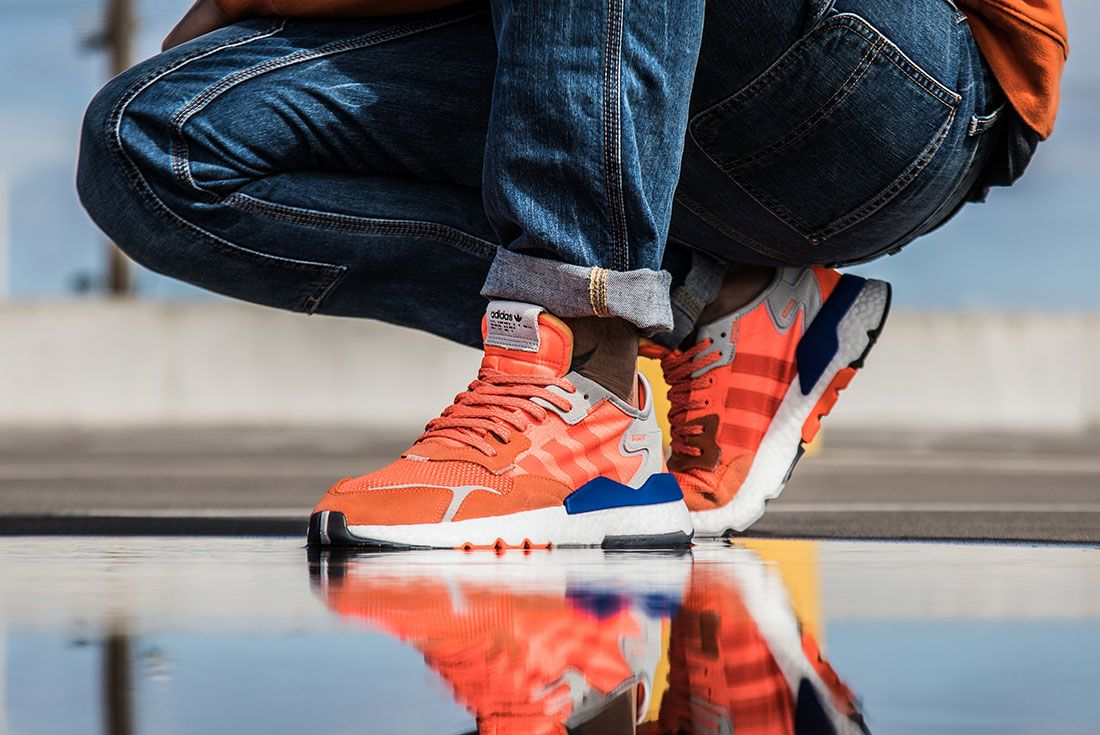 Adidas Nite Jogger Orange Left