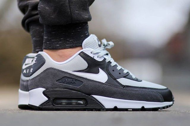 Nike Air Max 90 Essential Grey Mist White Black Dark Grey 1