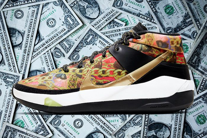 Nike Kd 13 Butterflies And Chains Ci9948 600 Lateral