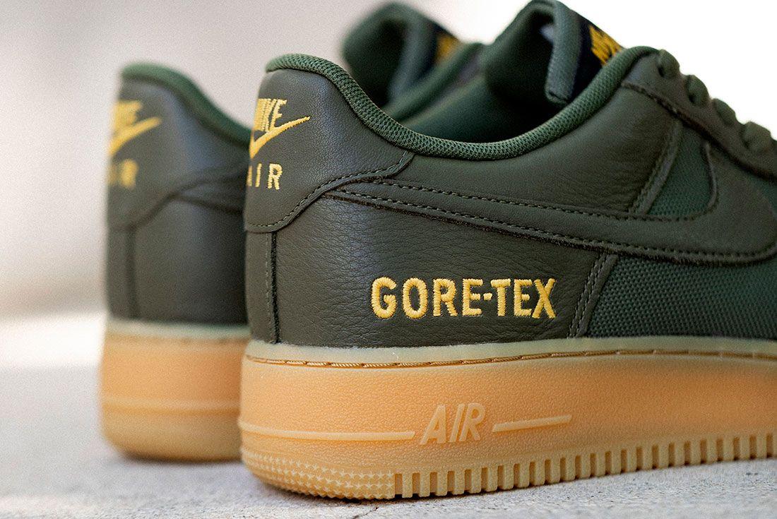 Nike Air Force 1 Gore Tex Black Drab Olive Hero Shot 4