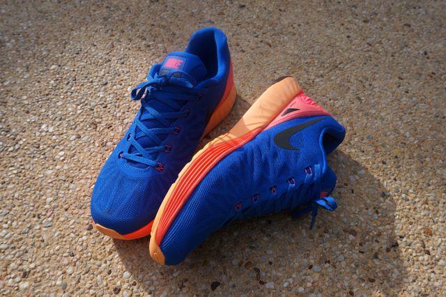 Nike Lunarglide 6 Blue Orange Yellow 1
