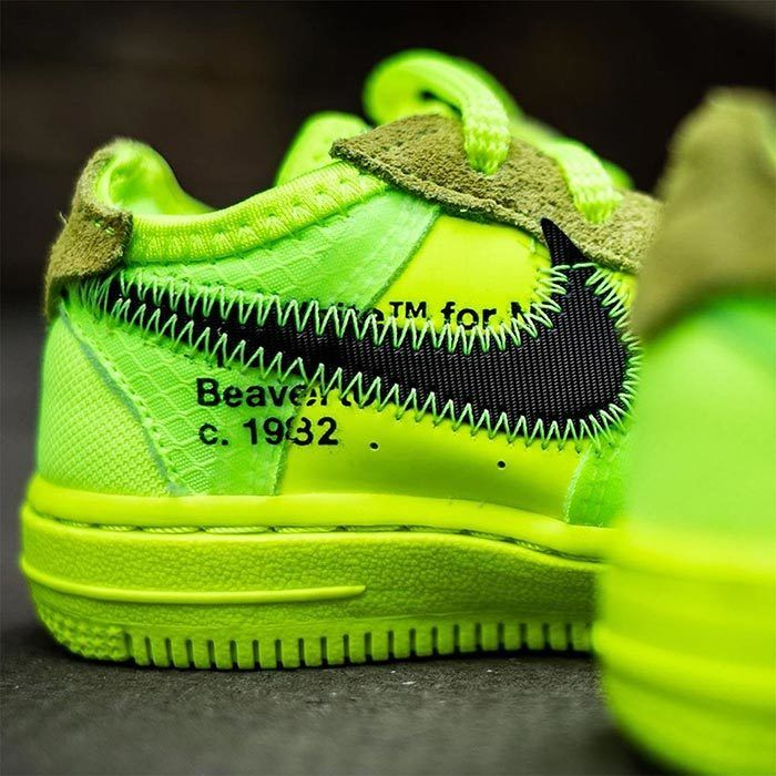 Off White Air Force 1 Volt Toddler 2