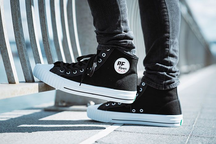 Pf Flyers Made In Use Centre Hi Black 7