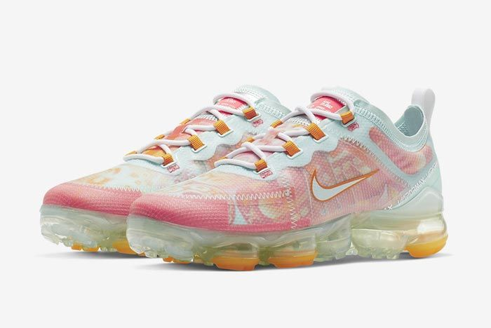 Nike Air Vapormax 2019 Pink Orange Pair