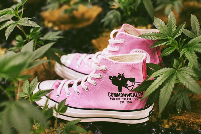 Pleasures Commonwealth Converse Dual Personalities All Star Hi Pink 1