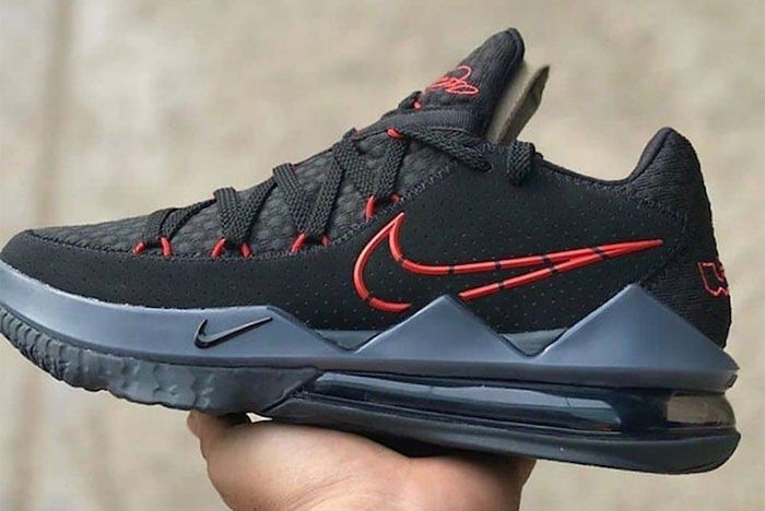 Nike Le Bron 17 Low Black University Red Cd5007 001 Release Date Leak