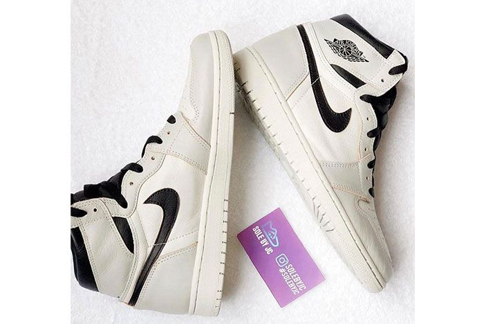 Air Jordan 1 Nike Sb White Black Grey 2