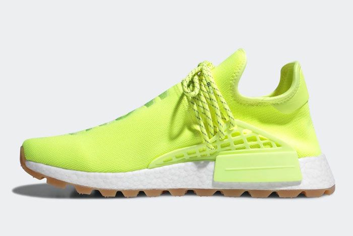 Pharell Adidas Hu Nmd Solar Yellow Lateral Inside