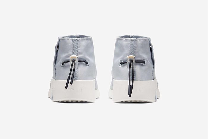 Nike Air Fear Of God Moccasin Official Pure Platinum Release Date Heel