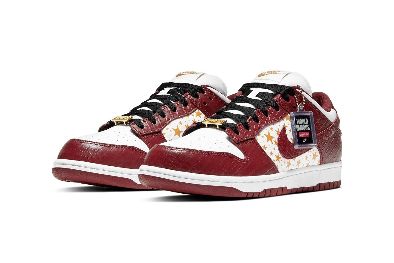 Supreme x Nike SB Dunk Low Barkroot Brown