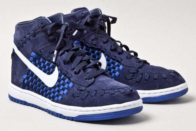 Nike Dunk Woven Checkerboard Blue 2 1