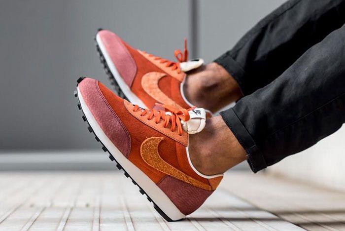 Nike Daybreak Rugged Orange Cu3016 800 On Foot Heel Slant