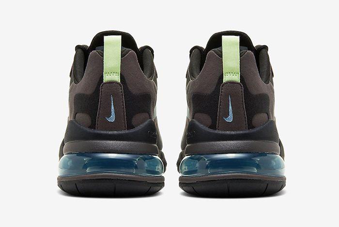 Nike Air Max 270 React Brown Heel Shot
