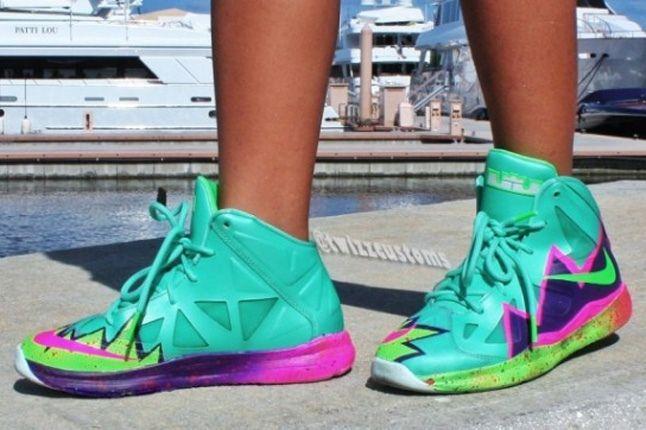 Nike Lebron 10 Gs Custom Pow 2 1