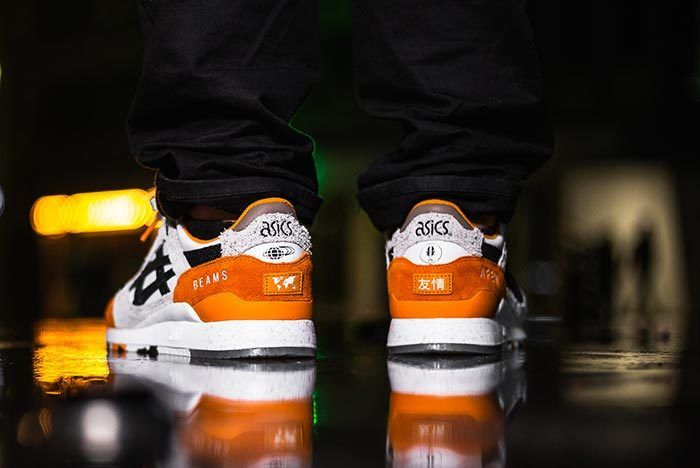 Afew X Beams X Asicstiger Orange Koi On Feet 03