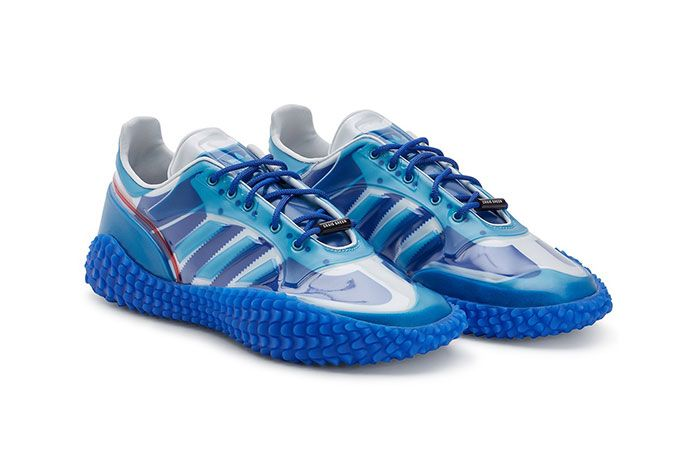 Craig Green Adidas Kamanda Dover Street Market Blue Three Quarter Angled Side Shot