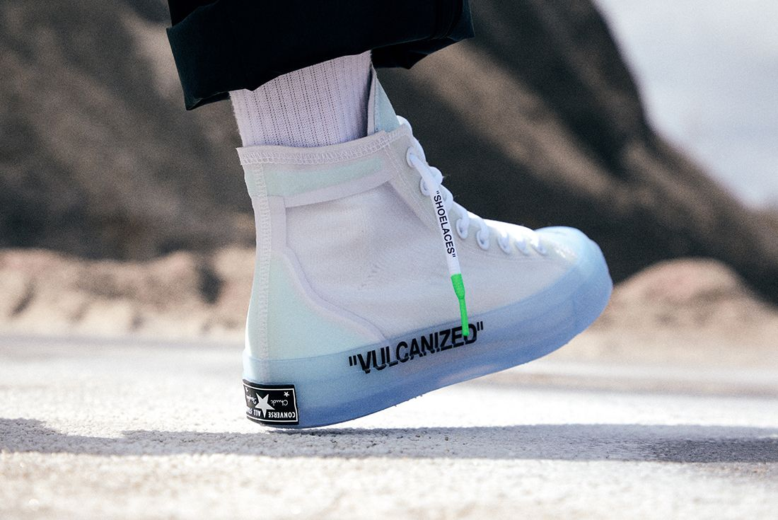 Off White X Converse Chuck 70 On Foot 2