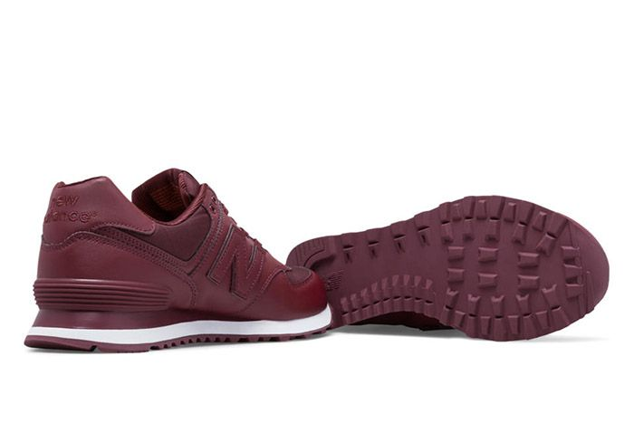 New Balance 574 Flight Jacket Burgundy 1