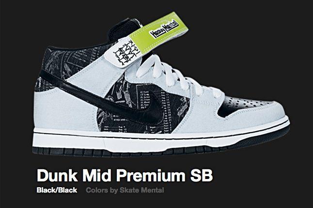 Nike Black Skate Mental Dunk Mid Sb 2007 2