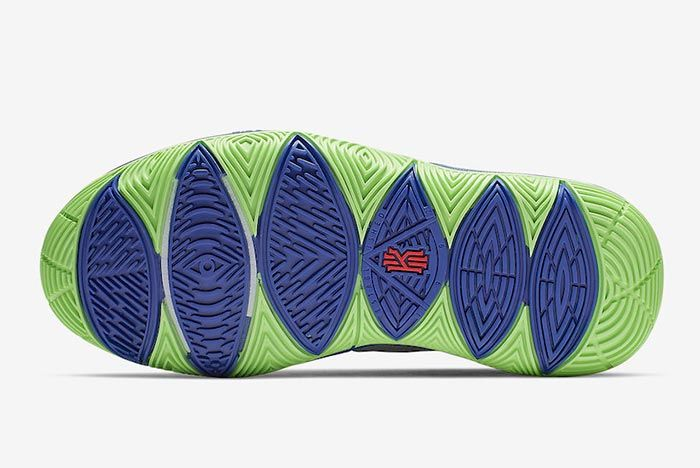 Nike Kyrie 5 Wolf Grey Lime Blast Outsole