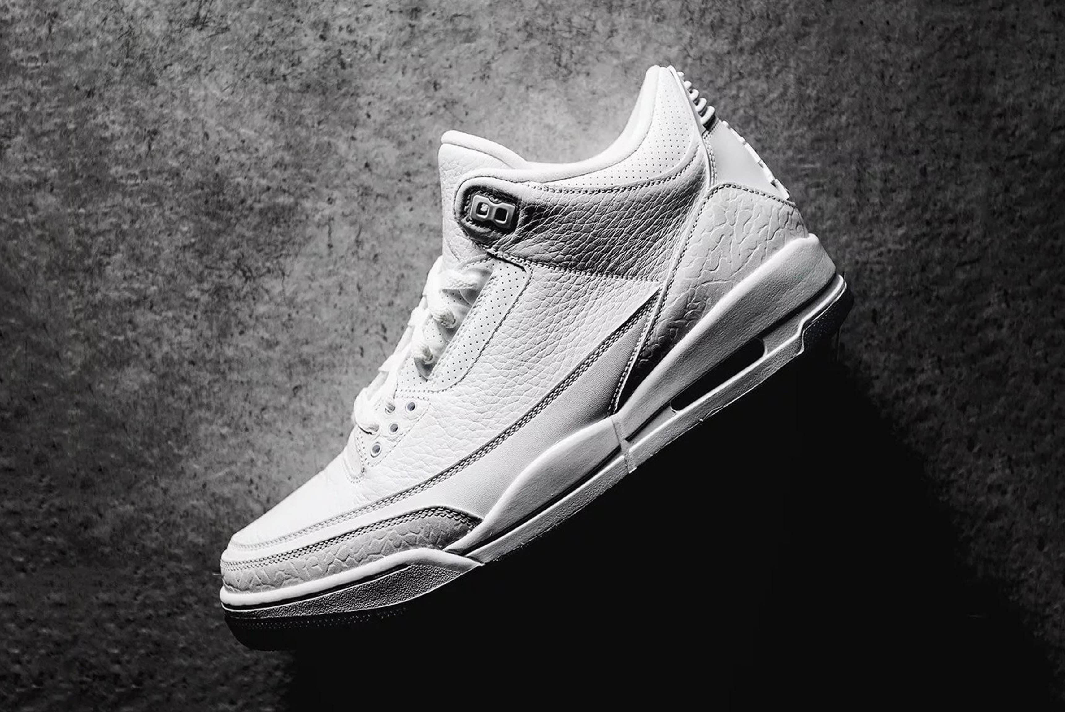 Air Jordan 3 Pure White Closer Look 01 Sneaker Freaker