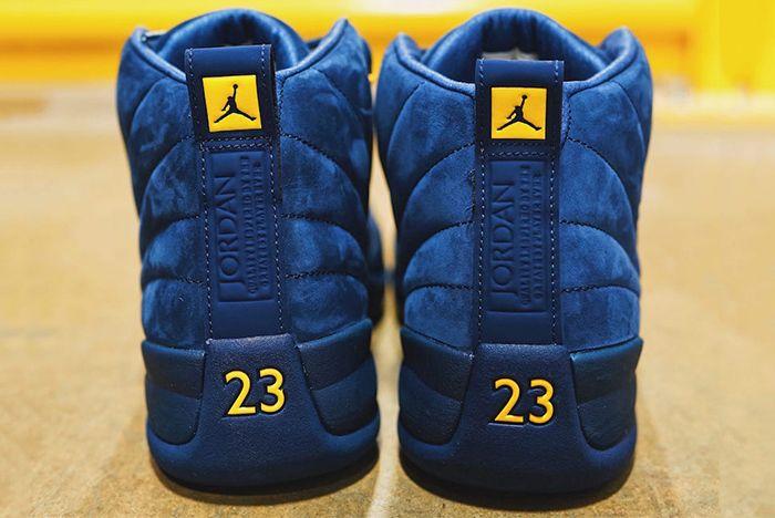 Air Jordan 12 Michigan Bq3180 407 Heels Sneaker Freaker